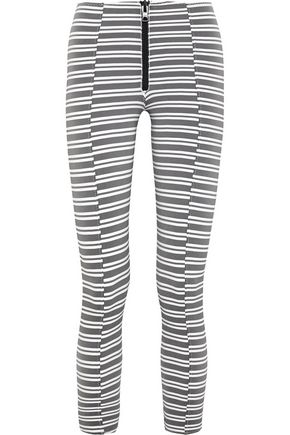 LISA MARIE FERNANDEZ Hannah striped stretch-jersey leggings