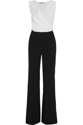 VANESSA BRUNO Two-tone crepe jumpsuit