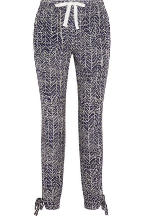 SEA Printed silk tapered pants