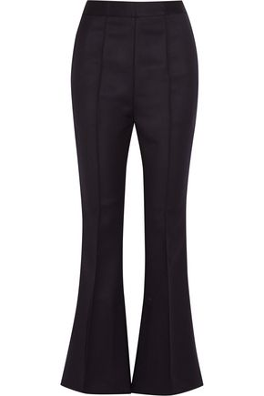 MARNI Cropped wool-twill flared pants