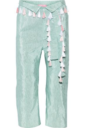 RYAN LO Cropped lamé pants