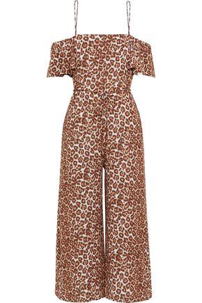 ZIMMERMANN Alchemy Flounce leopard-print crepe jumpsuit