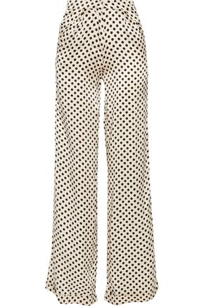 JOHANNA ORTIZ Capote polka-dot silk-charmeuse wide-leg pants