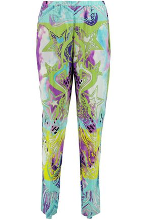 EMILIO PUCCI Printed silk-georgette tapered pants
