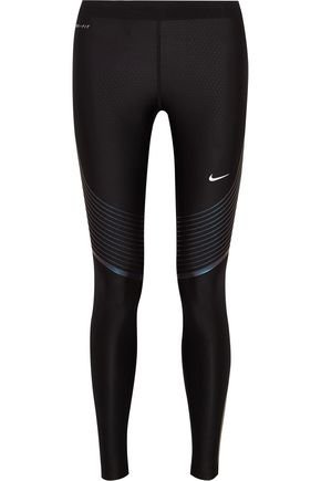NIKE Power Speed printed stretch-jersey leggings