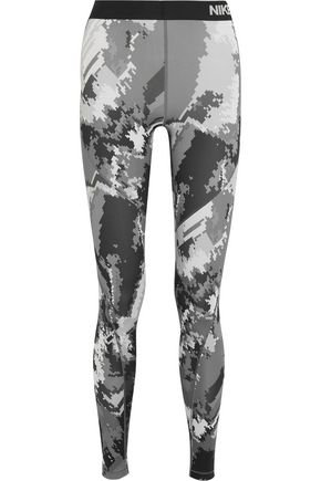 NIKE Pro Hyperwarm printed Dri-FIT stretch-jersey leggings