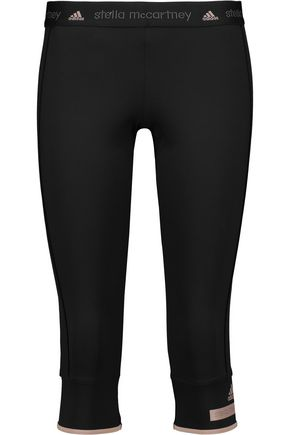 ADIDAS by STELLA McCARTNEY Cropped stretch-jersey leggings