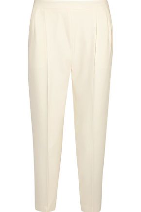 MAX MARA Pleated crepe tapered pants