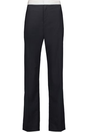 RAG & BONE Belmar silk-trimmed wool-blend straight-leg pants