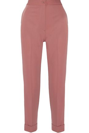 BOTTEGA VENETA Cropped wool-gabardine tapered pants