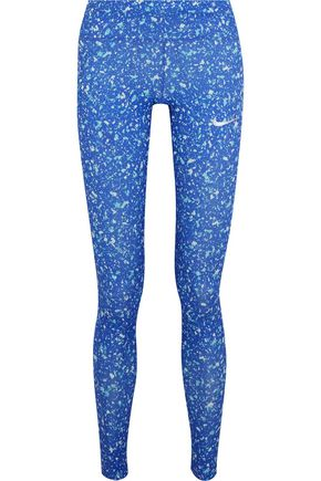 NIKE Power Essential printed Dri-FIT stretch-jersey leggings