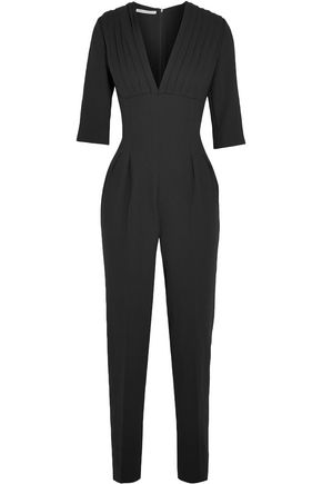 EMILIA WICKSTEAD Bela pleated wool-crepe jumpsuit