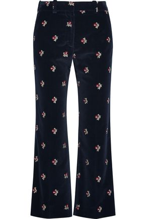 MAISON MARGIELA Embroidered velvet flared pants