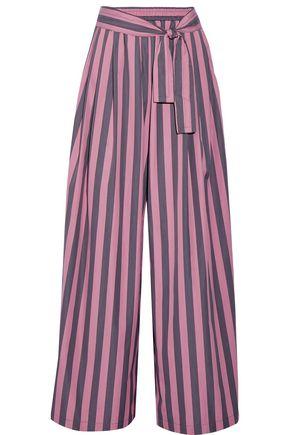 TOME Striped cotton-poplin wide-leg pants