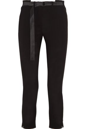 ANN DEMEULEMEESTER Cropped wool slim-leg pants