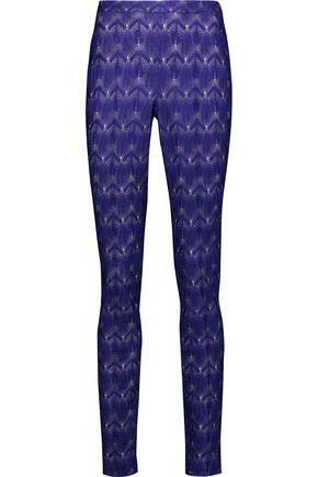 MISSONI Metallic crochet-knit skinny pants