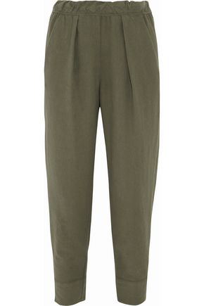RAQUEL ALLEGRA Cotton-twill tapered pants