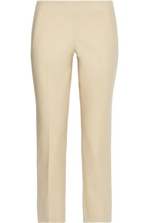 THE ROW Nowa cropped cotton-blend straight-leg pants