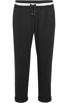 BRUNELLO CUCINELLI Cropped cotton-blend track pants
