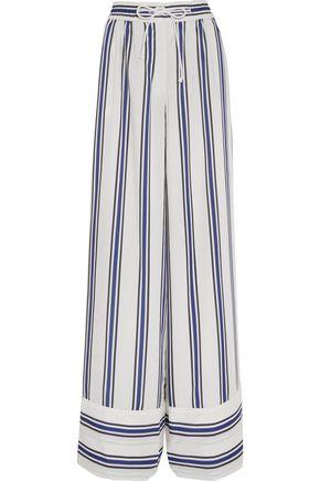 SACAI Striped voile wide-leg pants