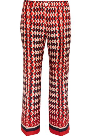 F.R.S. FOR RESTLESS SLEEPERS Ceo printed silk-twill straight-leg pants