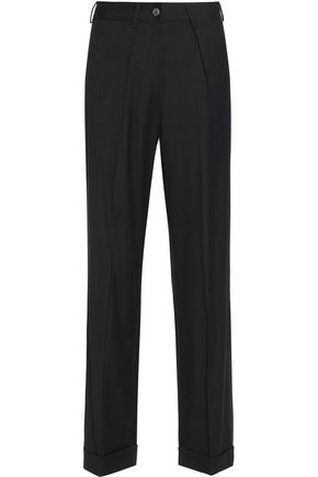 MM6 MAISON MARGIELA Pleated wool-blend twill straight-leg pants