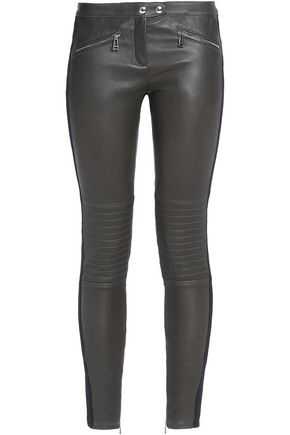 BELSTAFF Greenwich Moto leather skinny-leg pants