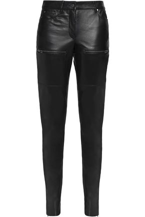 BELSTAFF Leather slim-leg pants