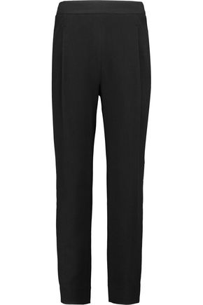 VINCE. Pleated piqué tapered pants