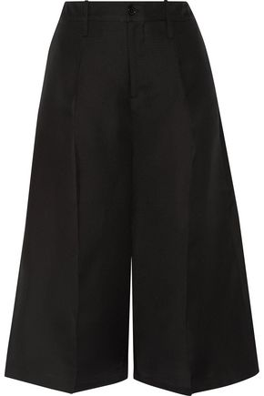 CO Cropped silk-faille wide-leg pants