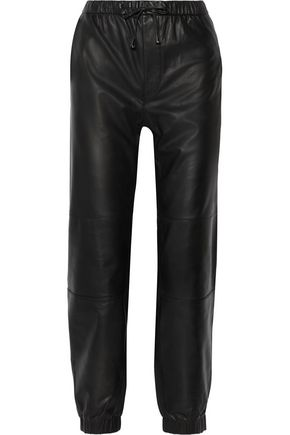 J BRAND Zoey leather tapered pants