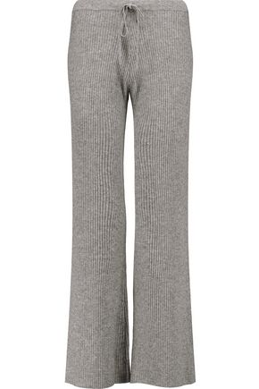 MADELEINE THOMPSON Corfu ribbed wool and cashmere-blend wide-leg pants