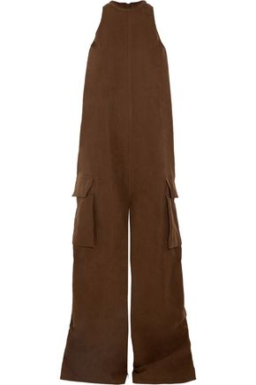 RICK OWENS Cotton and silk-blend jumpsuit