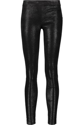 J BRAND Edita glittered stretch-leather leggings