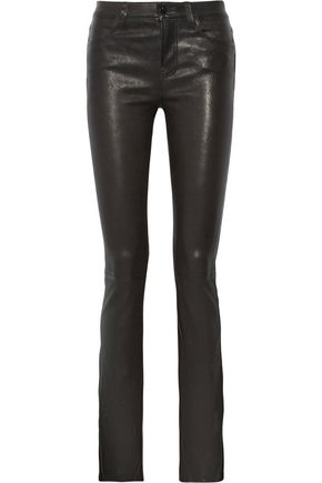J BRAND Remy stretch-leather bootcut pants