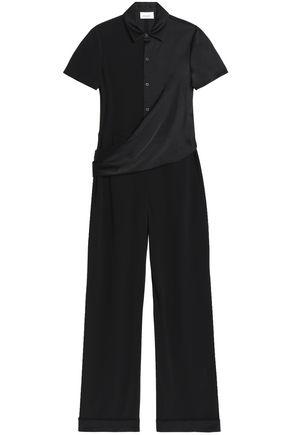 DKNY Draped satin-crepe jumpsuit