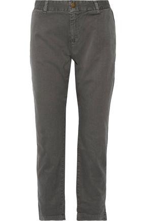 CURRENT/ELLIOTT The Buddy cotton-twill straight-leg pants