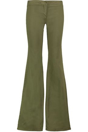 BALMAIN Cotton-blend flared pants
