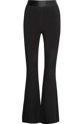 ELLERY Mercury ribbed-knit bootcut pants