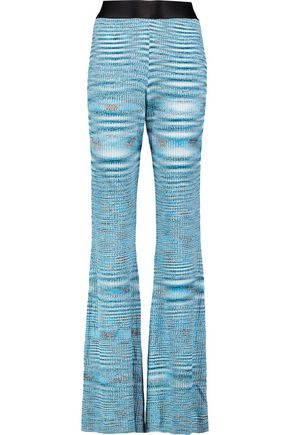 ELLERY Mercury mélange ribbed-knit flared pants