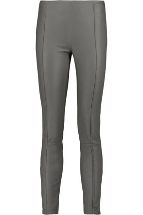 DROMe Stretch-leather leggings