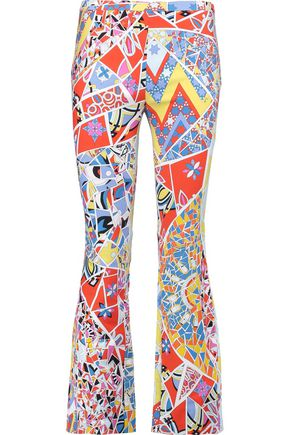EMILIO PUCCI Printed cotton-blend bootcut pants