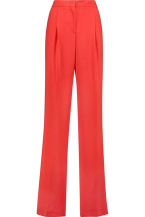EMILIO PUCCI Pleated crepe straight-leg pants