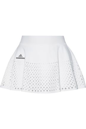 ADIDAS by STELLA McCARTNEY Layered cutout stretch shorts