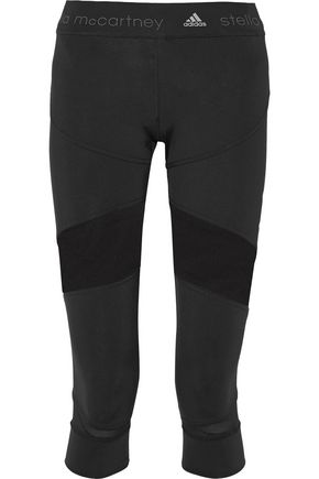 ADIDAS by STELLA McCARTNEY Run mesh paneled stretch leggings