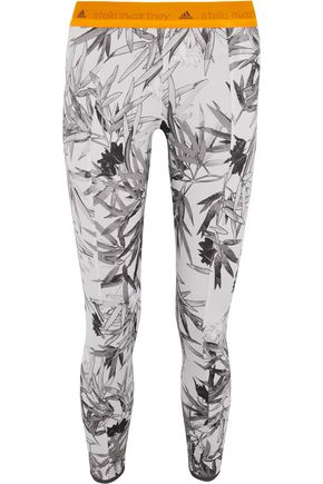 ADIDAS by STELLA McCARTNEY Yoga Bamboo printed Climalite® stretch-jersey leggings