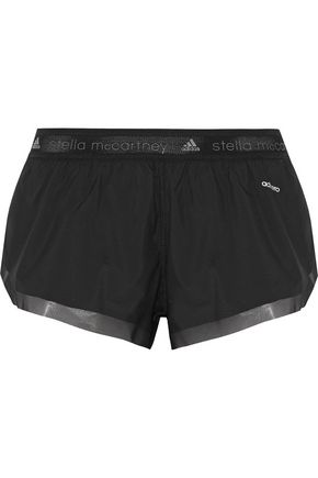 ADIDAS by STELLA McCARTNEY Run mesh-trimmed shell shorts