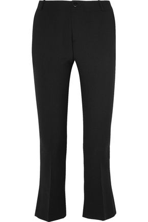 TOTÊME Vichy cropped stretch-wool crepe flared pants