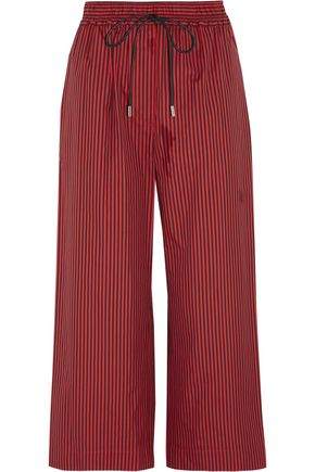 3.1 PHILLIP LIM Cropped striped cotton and silk-blend wide-leg pants