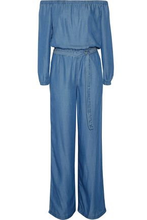 MICHAEL MICHAEL KORS Off-the-shoulder chambray jumpsuit